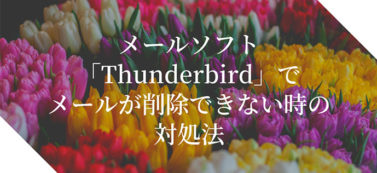 メールソフト「Thunderbird」でメールが削除できない時の対処法