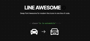 線形のWebフォントアイコン「Line Awesome」の使い方【無料】